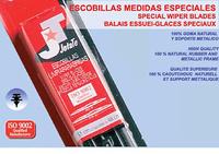 """JUEGO ESCOBILLAS 24"""" + 19"""""""