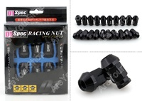 KIT 20 TUERCAS ALUMINIO RACING 12X125 NEGRO
